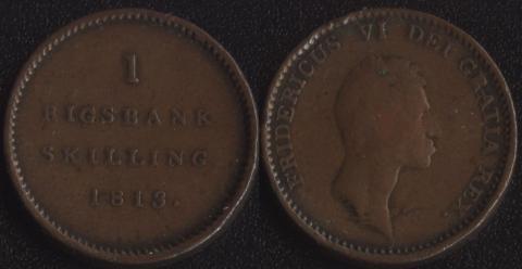 Дания 1 ригсбанкскиллинг 1813