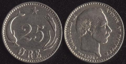 Дания 25 оре 1905