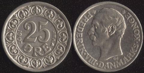 Дания 25 оре 1907