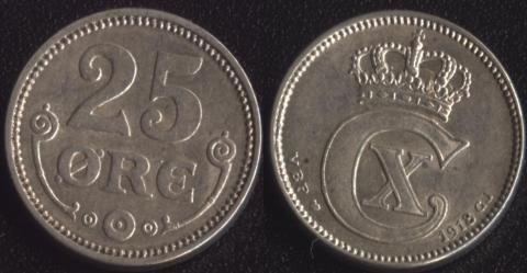 Дания 25 оре 1918