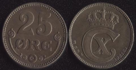 Дания 25 оре 1921