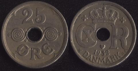 Дания 25 оре 1932
