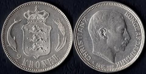 Дания 2 кроны 1916