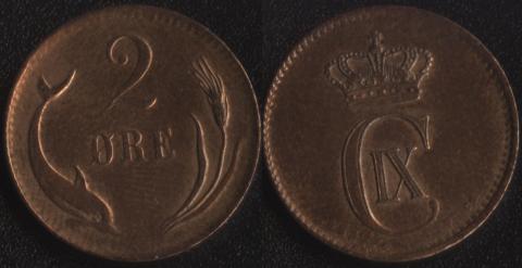 Дания 2 оре 1883