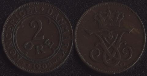 Дания 2 оре 1909
