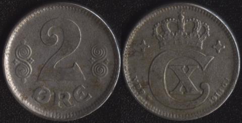 Дания 2 оре эре 1918