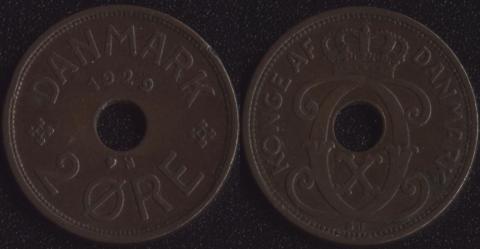 Дания 2 оре 1929