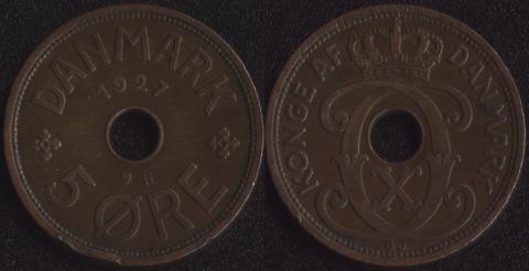 Дания 5 эре 1927 (N)