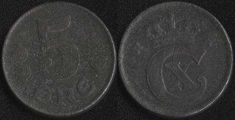 Дания 5 оре эре 1918