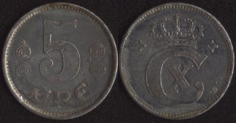 Дания 5 оре 1918