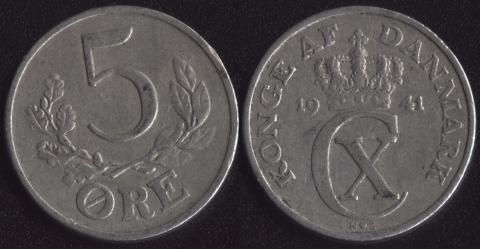 Дания 5 оре 1941