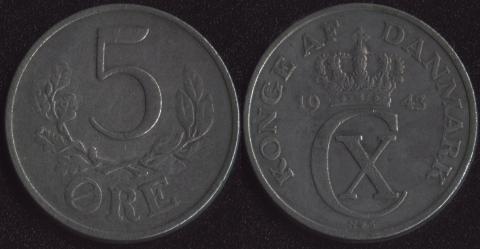 Дания 5 оре 1943