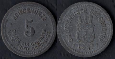 Деггендорф 5 пфеннигов 1917