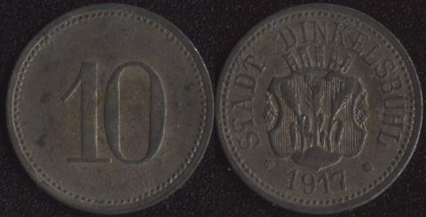 Динкельсбюль 10 пфеннигов 1917