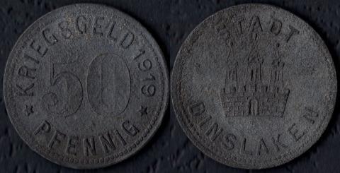 Динслакен 50 пфеннигов 1919