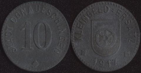 Донауэшинген 10 пфеннигов 1917