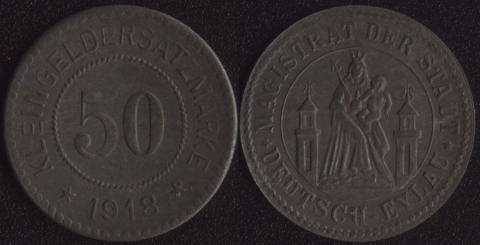 Дойч-Эйлау 50 пфеннигов 1918