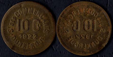 Дюнкерк 10 сантим 1922