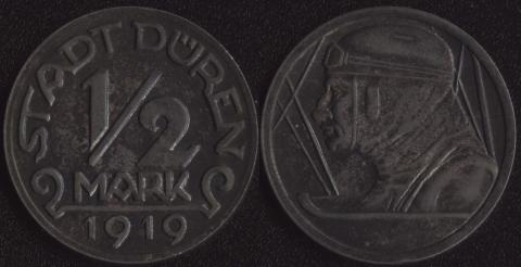 Дюрен 1/2 марки 1919