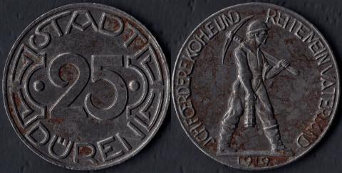 Дюрен 25 пфеннигов 1919