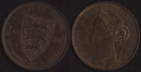 Джерси 1/12 шиллинга 1888