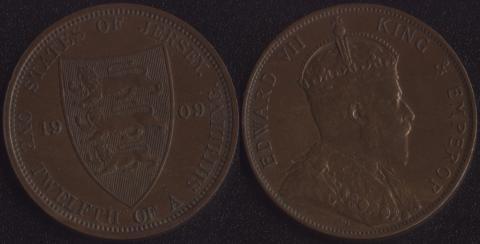 Джерси 1/12 шиллинга 1909