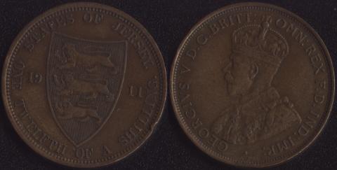 Джерси 1/12 шиллинга 1911