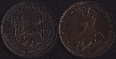 Джерси 1/12 шиллинга 1923