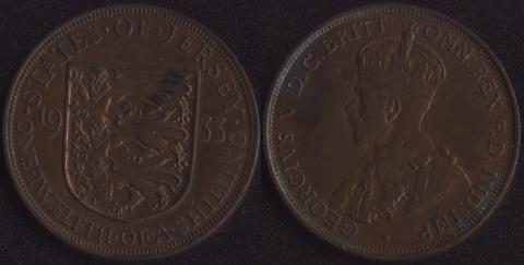 Джерси 1/12 шиллинга 1933