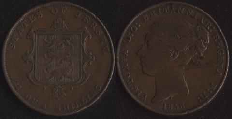 Джерси 1/13 шиллинга 1858