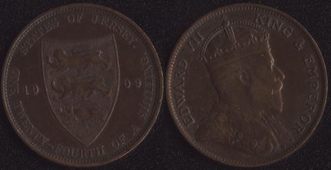 Джерси 1/24 шиллинга 1909