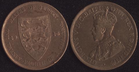 Джерси 1/24 шиллинга 1913