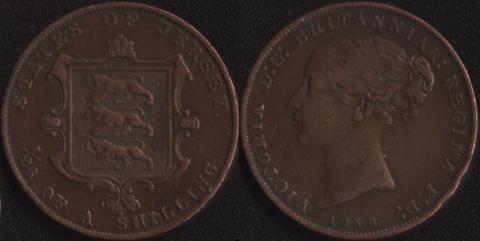 Джерси 1/26 шиллинга 1858