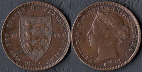 Джерси 1/48 шиллинга 1877