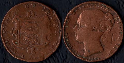 Джерси 1/52 шиллинга 1841