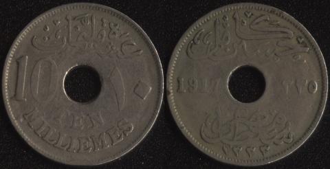 Египет 1 миллим 1917