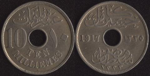 Египет 10 миллим 1917