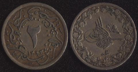 Египет 2/10 гирша 1884