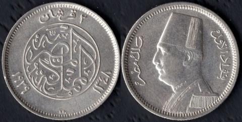 Египет 2 пиастра 1929