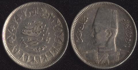 Египет 2 пиастра 1938