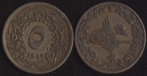 Египет 5/10 гирша 1884