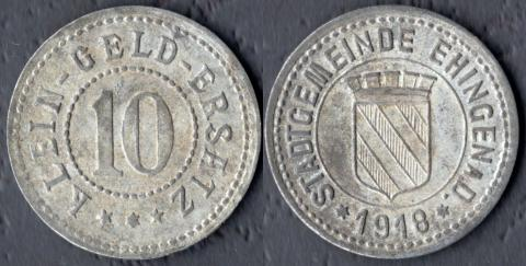 Эхинген 10 пфеннигов 1918