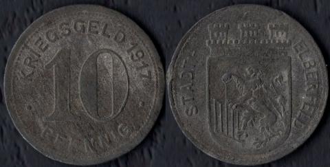 Эльберфельд 10 пфеннигов 1917 (цинк)