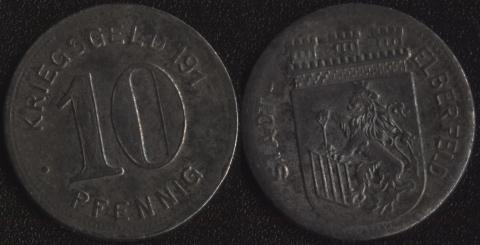 Эльберфельд 10 пфеннигов 1917 (железо)