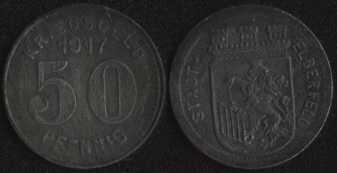 Эльберфельд 50 пфеннигов 1917