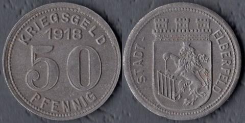 Эльберфельд 50 пфеннигов 1918