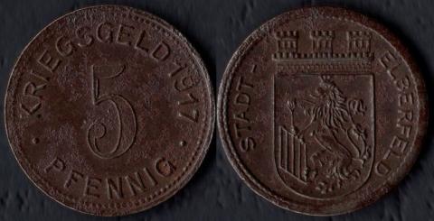 Эльберфельд 5 пфеннигов 1917