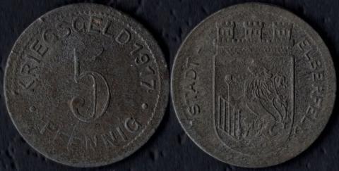 Эльберфельд 5 пфеннигов 1917 (цинк)