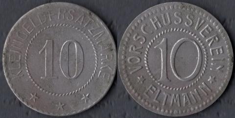 Эльтманн 10 пфеннигов (железо)