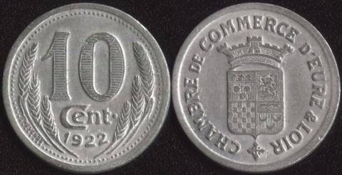 Эр и Луар 10 сантим 1922